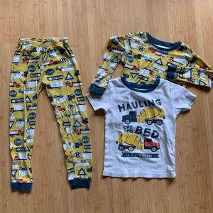 🍭Carters 🚜🚚🚧construction site pajama set - 5T